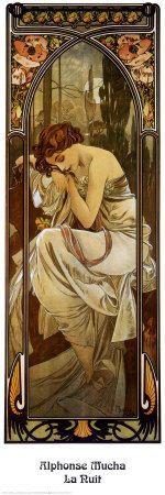 alphons mucha, artnouveau, night, artist, art nouveau, alphonse mucha