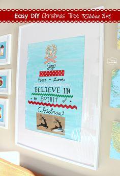 The Happy Housie - Easy DIY Christmas Tree Ribbon Art