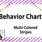 Freebie!!  Classroom behavior chart with a striped background. #FREE #behaviorchart