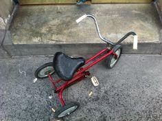 tricycle found rue de Montreuil, Paris, June 2012