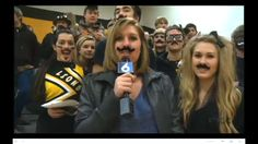Junior Year: one of my favorite Highlight Zones. I've been reporting for KWQC all four years. This time I got to use props. #imustacheyouaquestion