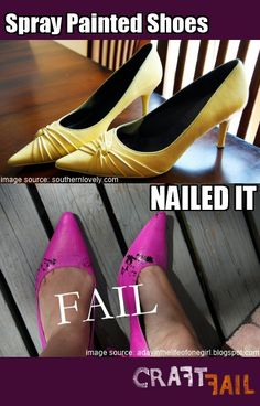 spray painted shoes - nailed it