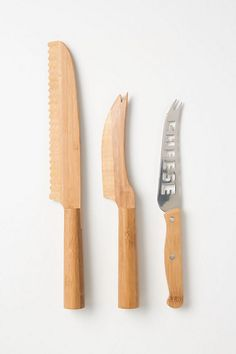 how cute is this cheese knife set? love.