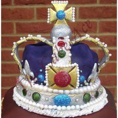 Handmade edible crown cake