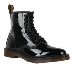 Dr. Martens Boots 1460 Black Patent Lamper Sale $125.00