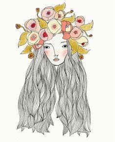 Image of Freya- zentangle hair