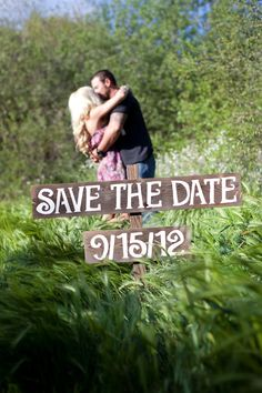 Save the Date sign for engagement pictures.