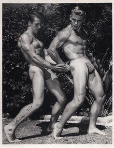 Carl Summer & Robin K. 1954 muscle-man-gay-fetish-jockstrap-vintage