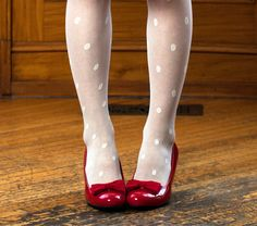 red bow shoe clips made in cotton sateen fabric by MichyLouDotCom, $12.00