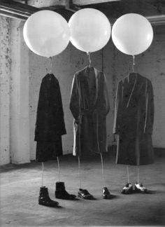 Airheads~By Jacob Sutton artistic photography, window displays, photo shoot, bridal parti, fashion marketing, black white, balloon, jacob sutton, art projects