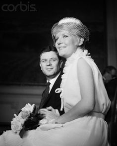 Wedding of British singer, composer and actress Petula Clark and Claude Wolff.  1961