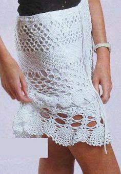 Falda en crochet