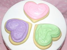 Sweet Pastel Heart Sugar Cookies with Buttercream by SweetOnHearts, $18.00 for 1 dozen