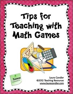 Tips for Teaching Math Games