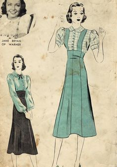 1930s Hollywood 1492 Vintage Sewing Pattern