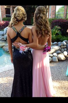 The one on the right, love the back of the dresses also