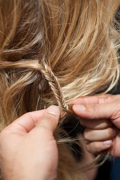 mini fishtail braid!