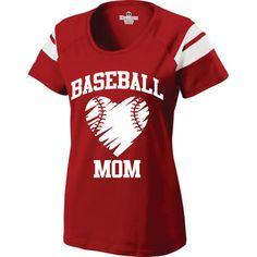 baseball mom in team colors
