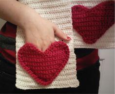 Red Heart Crochet Scarf Patterns | Crochet hearts