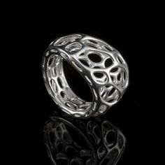 2-layer twist ring - sterling silver by nervous system, via Flickr