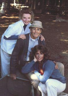 Kate Hepburn, father and daughter Fonda's~
