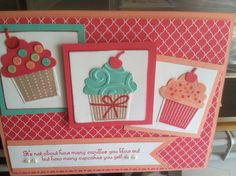 Stampin Up Cupcake Builder and 2013-2014 In colors
