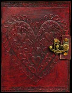Leather Embossed Celtic Heart Journal