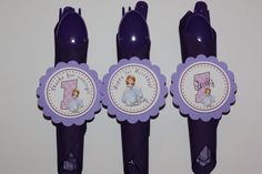 Sofia the First Napkin Rings by yadyscreations on Etsy. What a wonderful way to make your table look great!