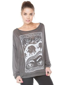 Brandy ♥ Melville | Samantha Elephant Top - Graphic Tops - Clothing