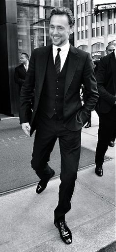 Tall, dark... talented, kind, intelligent, insightful, witty, self-deprecating, open, respectful, polite, courageous, persistent, hard-working, friendly, trusting, trustworthy... and handsome! {whew} Introducing Mr. Hiddleston.