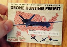 $25 #drone #hunting #license for residents 21 year of age, valid for one year.