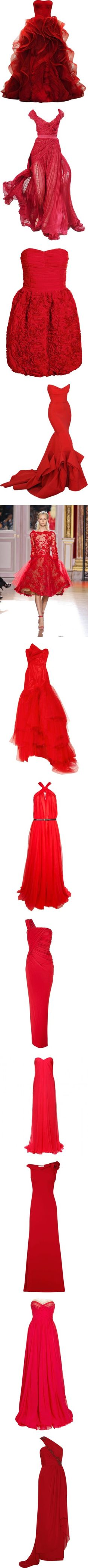 Red Dress Fashion ✤  love these!