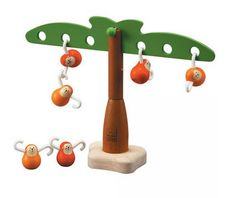 Balancing Monkeys toy from Plan Toys - eco friendly, and good for toddlers and even older kids starting to learn math.