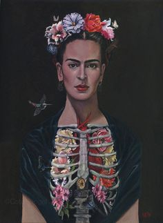 Frida Kahlo Limited Edition Print 13x19 by Cate Rangel.