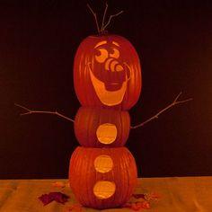 Halloween Olaf pumpkin.
