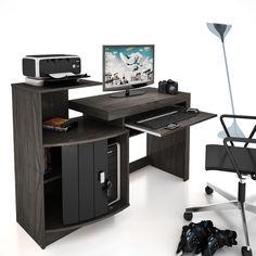 Mesa para Computador Vamol Shari - Vulcano/Preto - Mesas para Computador e Escrivaninhas no CasasBahia.com.br
