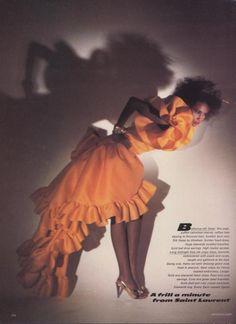 Iman, Editorial, Yves Saint Laurent, 1986