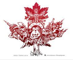 What people think represents Canada (Original Art) - Imgur Not bad, eh. tattoo idea, ass art, bad ass, canada stuff, miscellan detritus, origin art