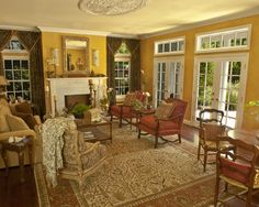 French Country Living Room Design, Pictures, Remodel, Decor and Ideas - page 4