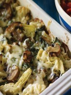 Spinach and Artichoke Mushroom Casserole