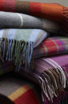 Wool plaid blankets