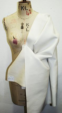 Draping on the stand - developing structure using a mannequin - moulage; garment construction; fashion design