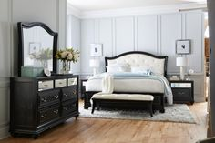 Hollywood Glamour at its finest (Marilyn bedroom from American Signature Furniture)
