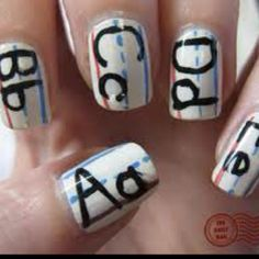 School Themed Nails