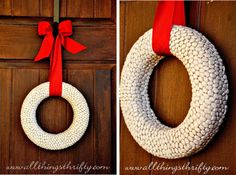 DIY dried lima bean wreath