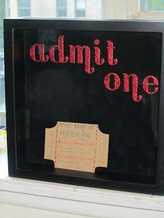 The One Where She Dreams: admit one ticket box