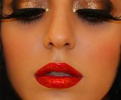 glamour holiday makeup, halloween costumes, makeup ideas, red lips, glamour makeup, costume makeup, eye, the holiday, crazy makeup