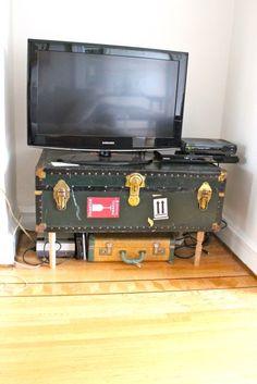 diy trunk tv stand | Tumblr