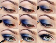 I admire people who can wear blue eyeshadow...my eyes are blue so it doesn't look flattering. :(