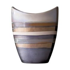 3 hands multi colored striped vase.  Concept Candie Interiors now offers virtual online interior decorating services for only $200 per room. #ecommerce #homedecor #interiordesign